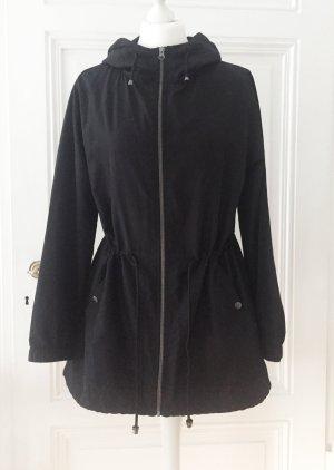 Primark Raincoat black-silver-colored