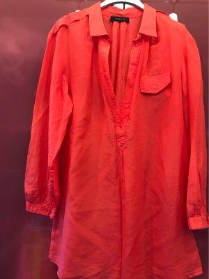 Passport Cols de blouses rouge clair coton