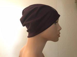 Cappello in tessuto lilla-verde