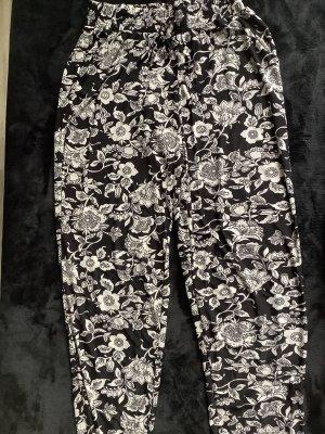 H&M Pantalón deportivo negro-blanco