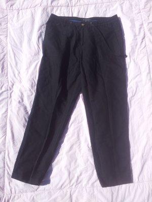 dünne Stoffhose schwarz 7/8 Stiefelhose Gr. 38