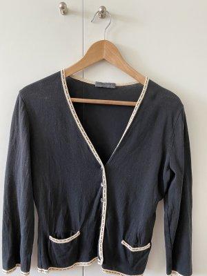 Alberta Ferretti Giacca in maglia nero-crema