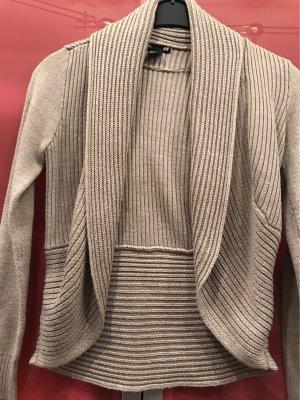H&M Gebreid vest beige