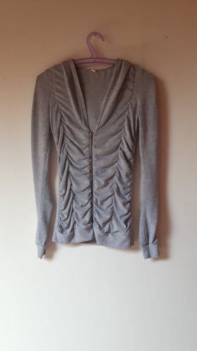 Dünne Sweatshirtjacke grau