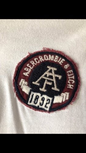 dünner Abercrombie-Hoodie in weiß