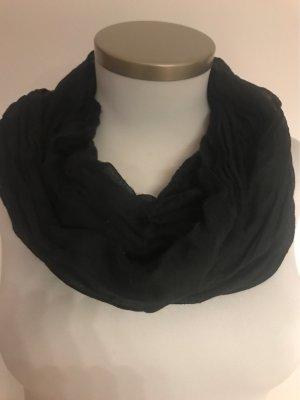 Dünner Crash Schal in schwarz