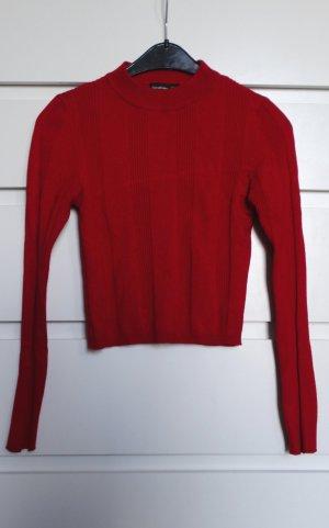 Dünner Cropped Pullover aus Strukturstrick