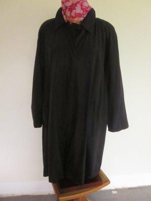 Classic Between-Seasons-Coat black mixture fibre