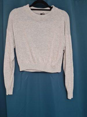Dünner grauer Pullover