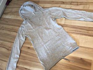 Top à capuche gris clair