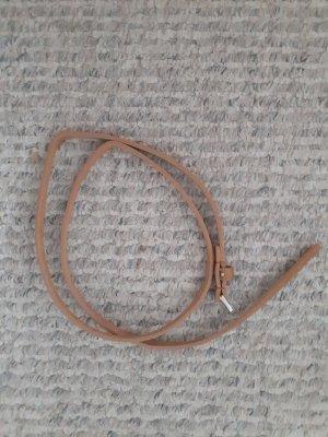 Cinturón de cuero de imitación marrón claro