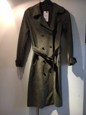 dünner khakifarbener mantel von zara gr 34