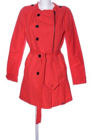 Nümph Abrigo corto rojo tejido mezclado