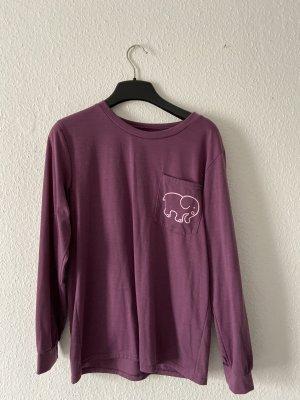 Shirt met print lila-wit