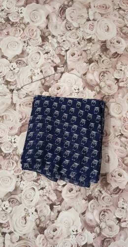 handmade Scaldacollo blu scuro