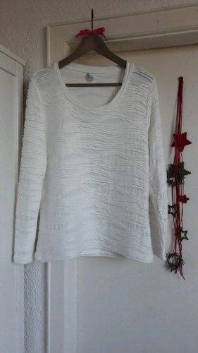Dünner Pulli Shirt langarm offwhite