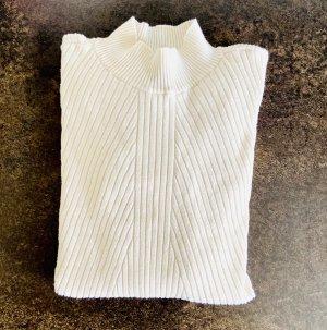H&M Chemise côtelée blanc