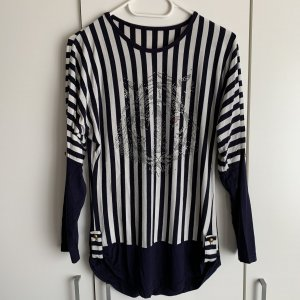 Jersey largo azul oscuro-blanco