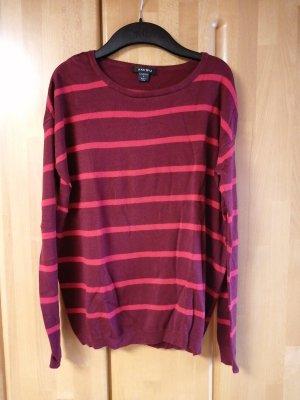 Amisu Wollen trui rood-bordeaux