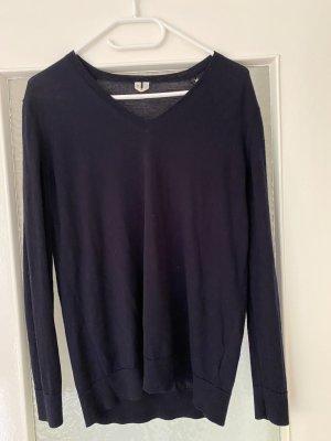 ARKET Cienki sweter z dzianiny niebieski Wełna