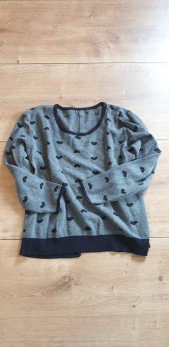 Swetrowa sukienka czarny-szary