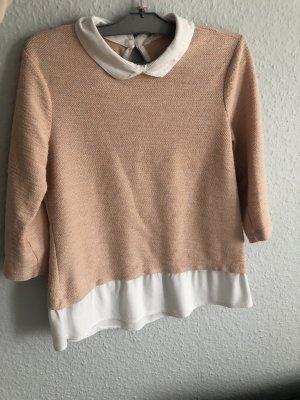 Dünner Pullover mit Bluse