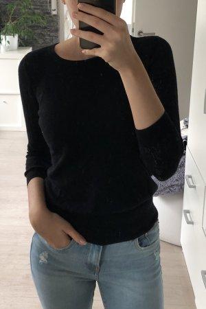 Dünner Pullover mit Spitzendetails, H&M, Größe XS/34,schwarz