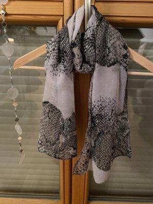 Bufanda de seda blanco-gris