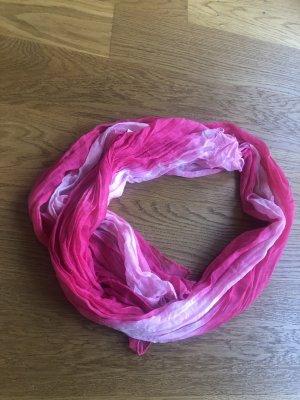 Dünner Schal in pink und rosa