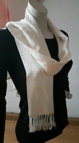 Jedwabny szal w kolorze białej wełny Jedwab