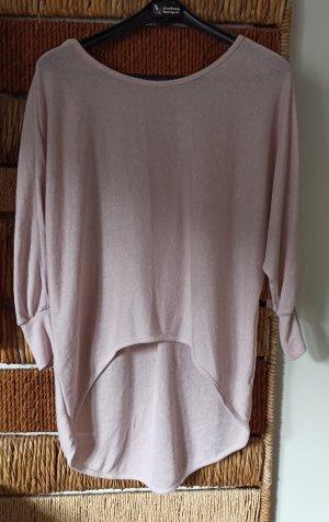 Madonna Maglione lavorato a maglia rosa chiaro