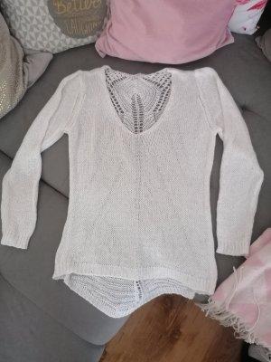 Crochet Sweater white