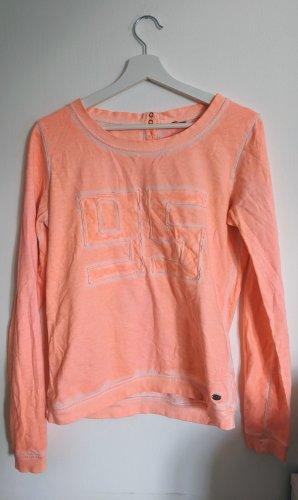 Dünner Sweater von Only S 36 neon orange used look