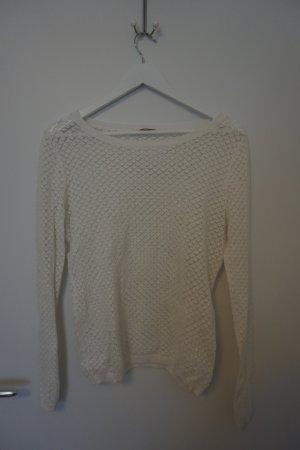 Clockhouse Crochet Top white
