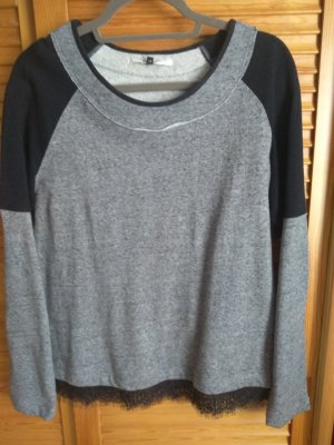 dünneres Sweatshirt mit Spitze