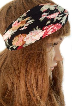 Dünnes Haarband mit Knoten und Blumenmuster