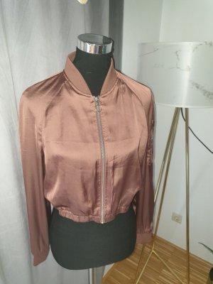 H&M Kurtka dresowa szaro-brązowy-brązowy