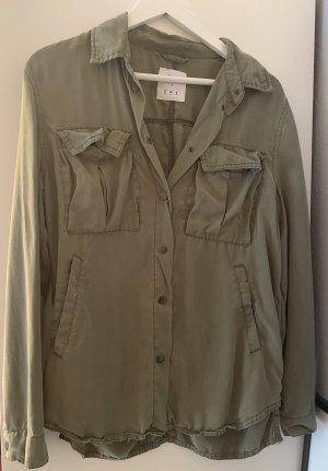 Denim Co. Chaqueta estilo camisa caqui