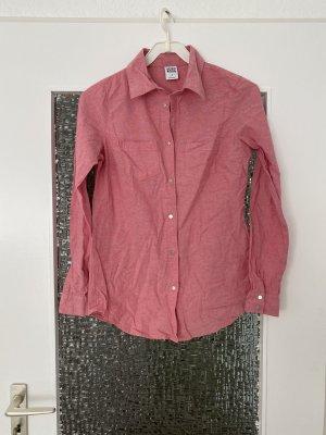 dünnes jeanshemd in hellrot / rosa