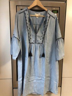 H&M L.O.G.G. Vestido vaquero azul oscuro-azul celeste