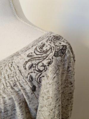 Dünnes Oberteil Sweatshirt Pullover in hell grau Gr. L