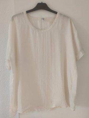 Amisu T-shirt bianco sporco-crema