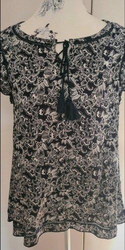 Gina Shirt Tunic white-dark blue