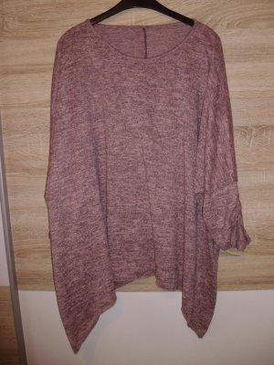 0039 Italy Camisa larga rosa-negro Acrílico