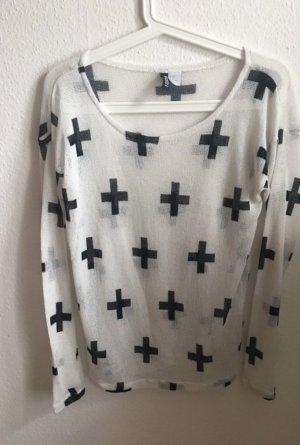 Alexander Wang for H&M Sweatshirt blanc-noir