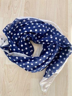 Pañoleta blanco puro-azul oscuro