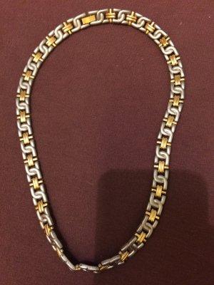 Zware ketting zilver-zandig bruin Edelstaal