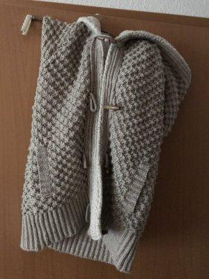 Zara Knit Cardigan à manches courtes blanc cassé-beige