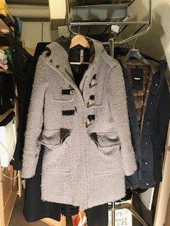 Duffle-coat gris clair laine