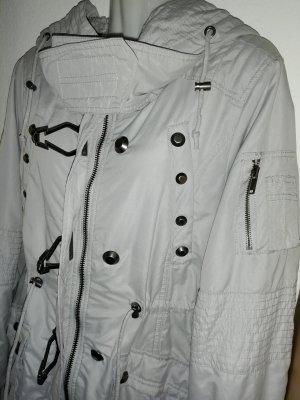FB Sister Cappotto con cappuccio grigio chiaro